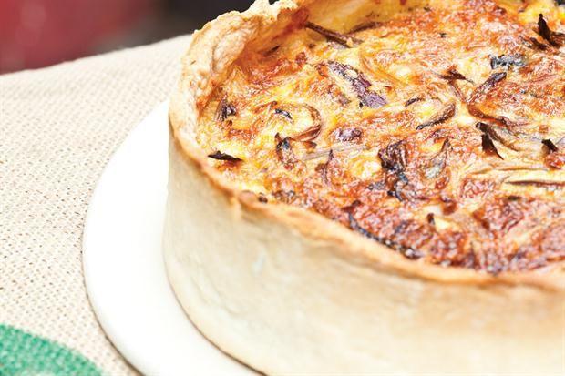 Tarta de cebollas moradas  Foto:Lucila Cummins