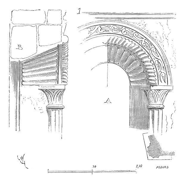 """""""Stuc.eglise.Germiny.des.Pres.Loiret"""". Licencja: Domena publiczna na podstawie Wikimedia Commons"""