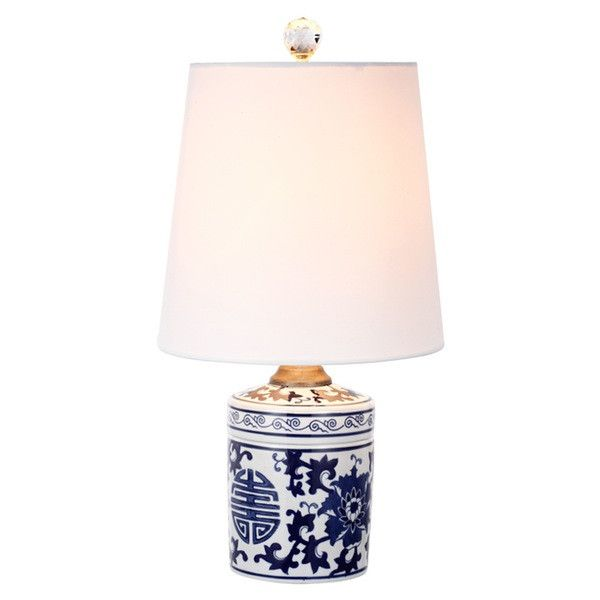 A&B Home White & Blue Table Lamp