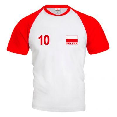 POLSKA Koszulka Siatkarska Biało - Czerwona Z Własnym Nadrukiem
