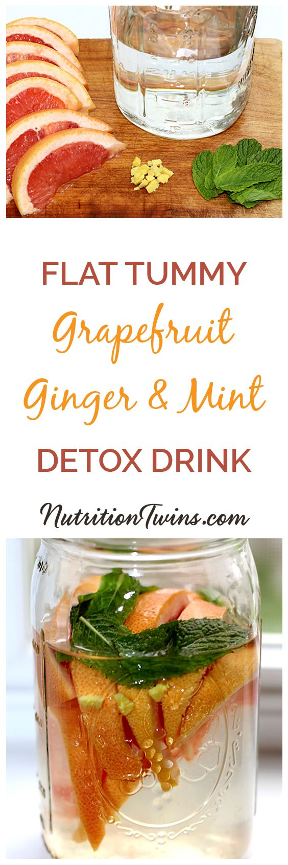 "Grapefruit Ginger Mint ""Detox"" Drink 
