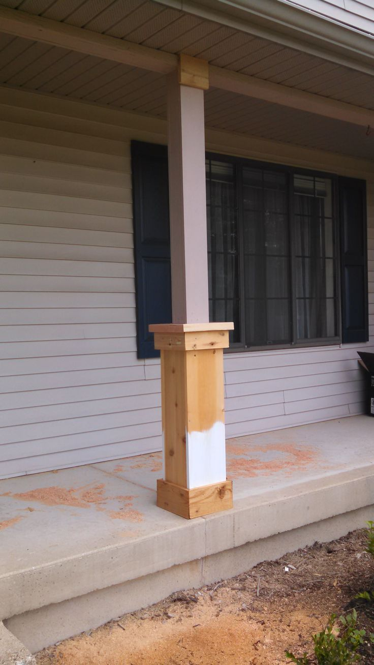 Craftsman style porch columns - Since I Removed The Railings On Our Porch Earlier This Summer The Plan Has Been To Make Some Epic Craftsman Columns What We Didn T Anticipate Was That