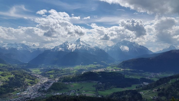 View from Kneifelspitze to Watzmann and Hochkalter