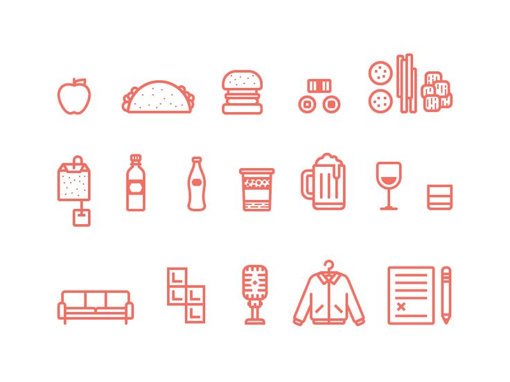 DBX Icons Illustrations by Ryan Putnam for Dropbox