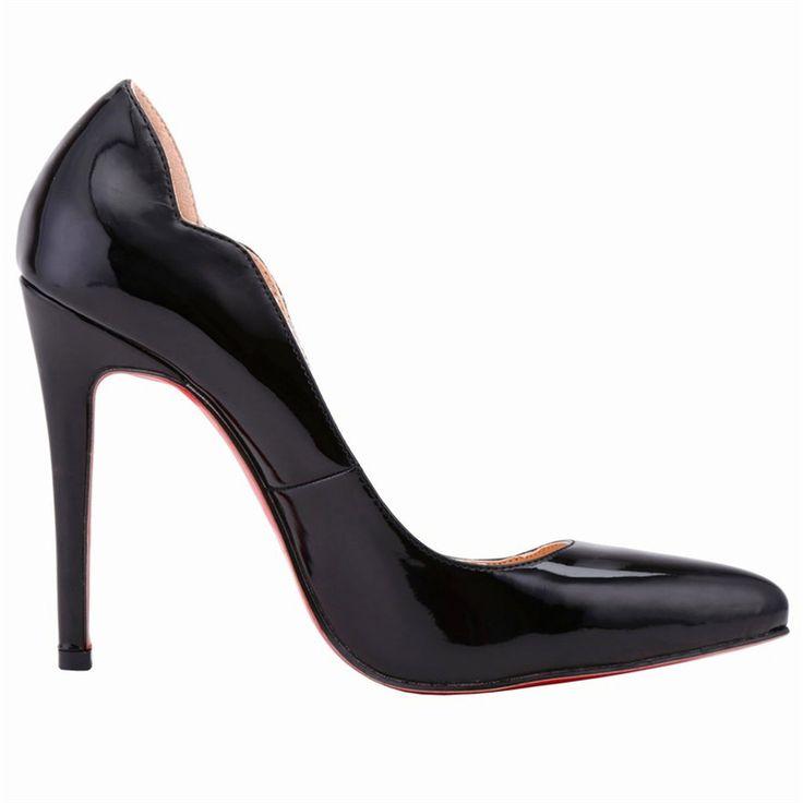 Women Pumps Red Bottom Sole Wave Upper Shoes Ultra High Heels sapatos de salto alto chaussures escarpins femmes High-heeled shoe