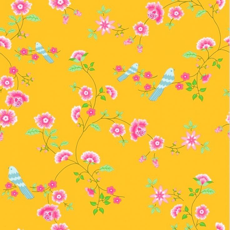 Tapete Bird Branches gelb