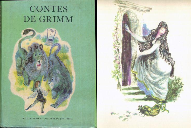 Jiri Trnka - Contes De Grimm, Gründ Légendes et Contes de Tous les Pays rééd. 1969 Cartonné toilé illustré avec jaquette grand format