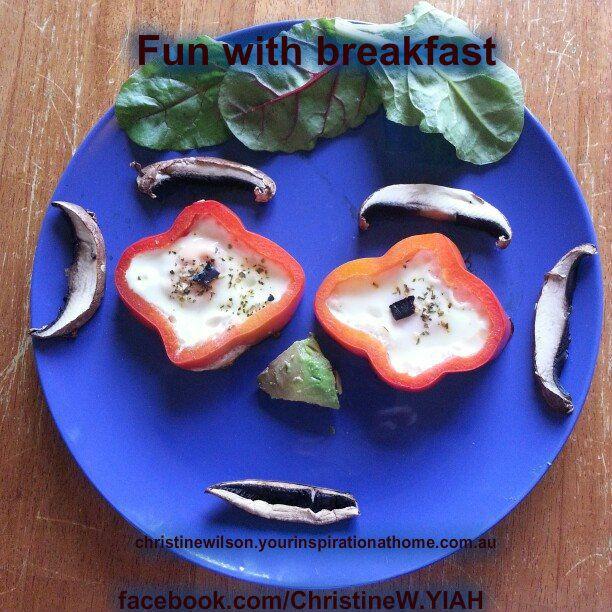 Fun at breakfast. facebook.com/ChristineW.YIAH christinewilson.yourinspirationathome.com.au