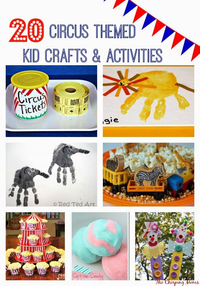 Circus Crafts & Activities for Kids || The Chirping Moms