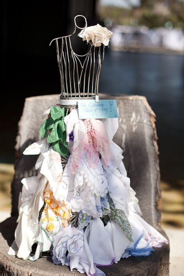 handkerchief display on a dress form