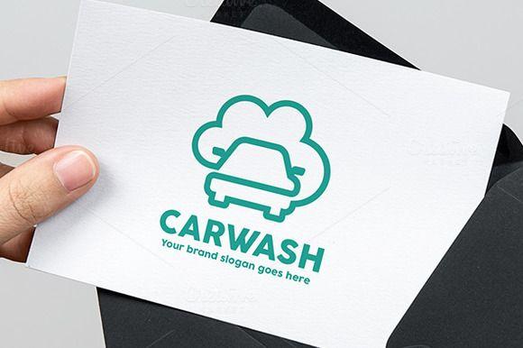 Car Wash Line Logo by WheelieMonkey on @creativemarket