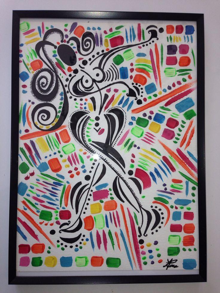 """Love handles""  #lesballetgirls #alexandrinecomte #danseclassique #peinture #supernanas #couleurs #femmes"