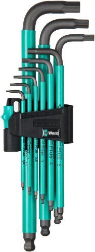 Wera 950 Spkl/9 Sm N Hex Key Set With Two-Component Storage Clip, 9-Pieces, 2015 Amazon Top Rated Wrenches #BISS