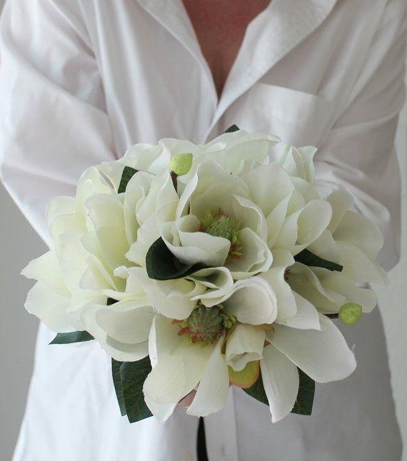 Magnolia Wedding Bouquet Images | Magnolia Bridal Bouquet by BlumeBloom on Etsy