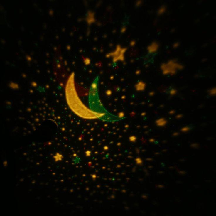 Popular LED Starry Sky Rotating Night Light Moon USB Ball Projector Lamp Degree Multi colored Romantic Children Baby Bedroom Nursery Use Christmas Festival Gift