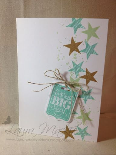 gorgeous grunge, Chalk talk and Simply Stars. Colors are Coastal Cabana, Pistachio Pudding and Baked Brown Sugar