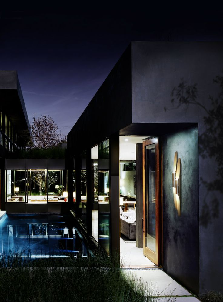 Home Inspiration Ideas » Summer outdoor ideas – beautiful swimming pool designs  with outdoor lighting @delightfulll COLTRANE wall lamp