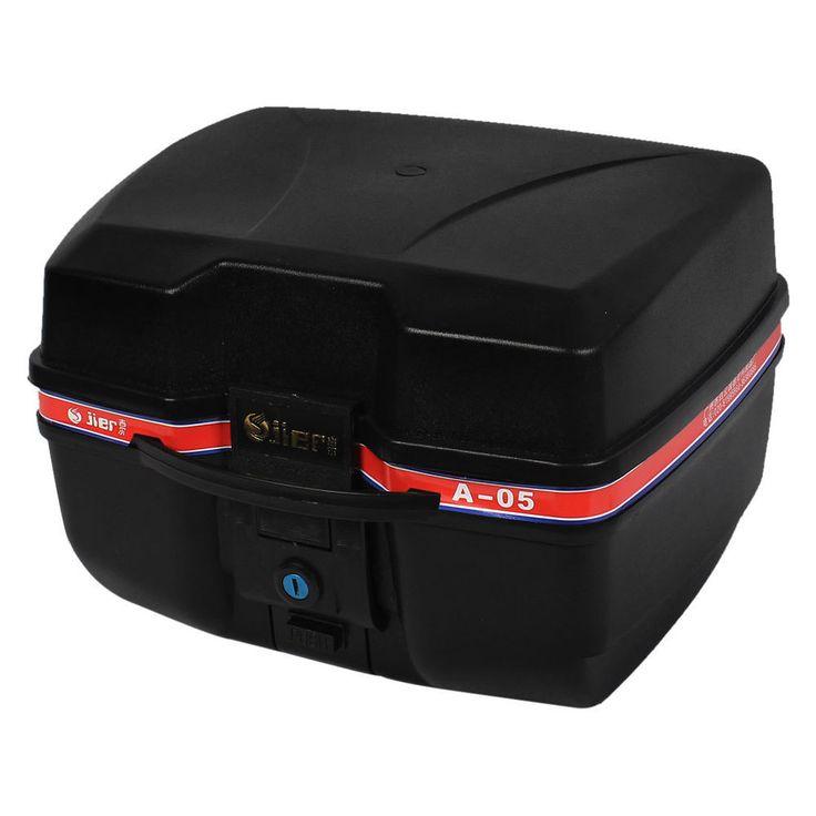 Unique Bargains Universal Hard Black Motorcycle Luggage Top Case Tail Box Holder #UniqueBargains