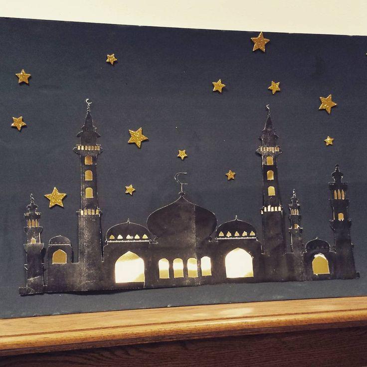 Holy Months Journey (@holy_months_journey) on Instagram: üç aylar ve ramazan için cami silueti çalışması Mosque silhouette for Ramadan, eid and islamic board