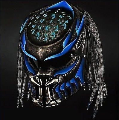 AMAZING ALIEN PREDATOR HELMET CUSTOM STYLE DOT APPROVED SIZE S,M,L,XL #Cellos