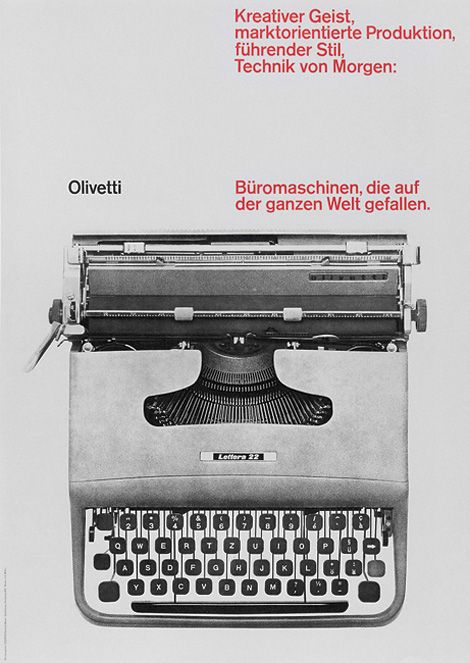 Olivetti Poster by Ernst Hiestand, 1961