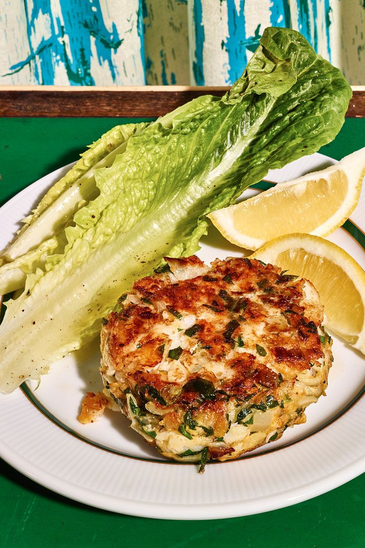 Cod cakes - a simple meal that uses any white-fleshed fish. Poach the fillets in bay-leaf-scented water, then flake the cooled meat into sautéed onions and celery. Eggs and cracker crumbs will bind everything together.