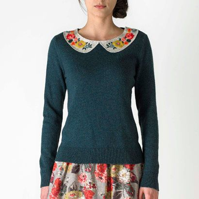 Embroidered Collar Jumper   Cath Kidston. I bought this today <3