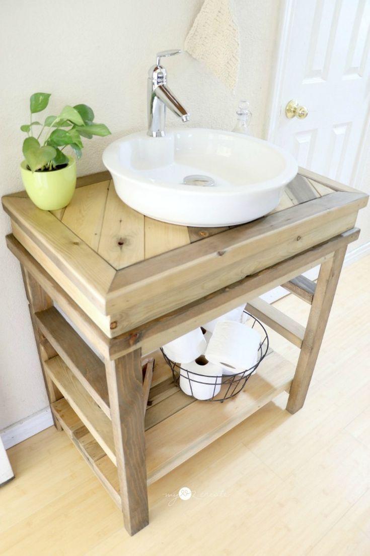 13 Diy Bathroom Vanity Plans You Ll Love Small Diy Bathroom