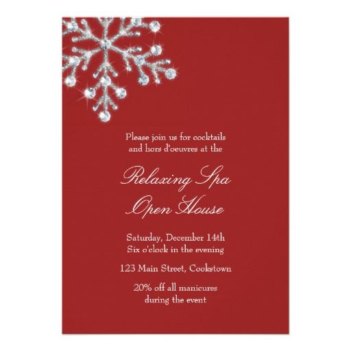 20 best business open house invitations images on pinterest open house red offset crystal snowflake card stopboris Choice Image