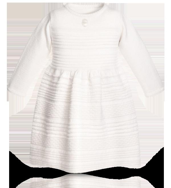 BABY DIOR - Snowflake tricot knit dress