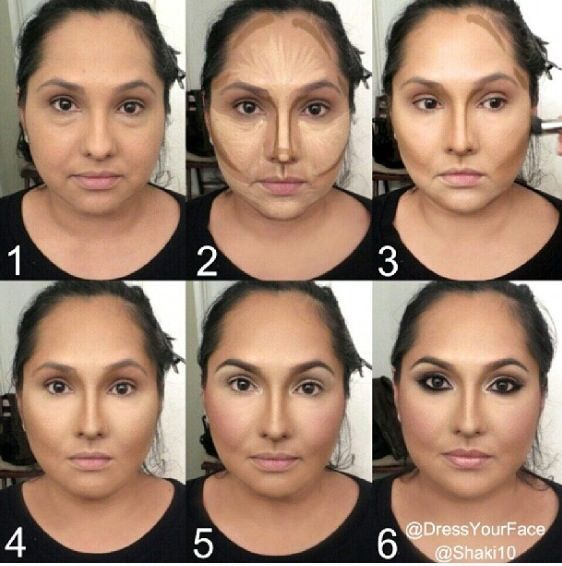 Samer Khouzami contouring technique - a little softer than the one he uses.