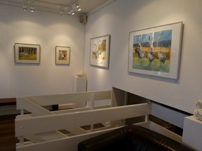 Ausstellung Faszination Kraniche   Kranich Aquarelle in der Galerie FASZINATION ART (c) Frank Koebsch (4)