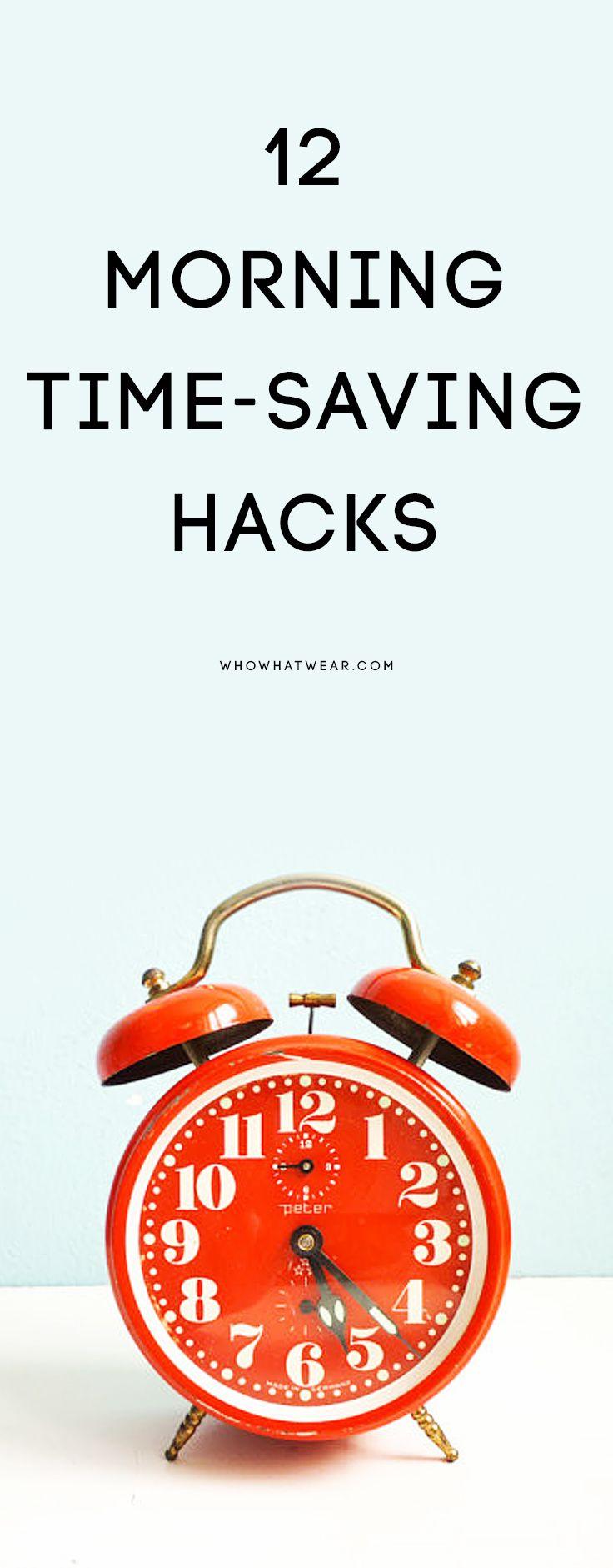 12 morning time-saving hacks