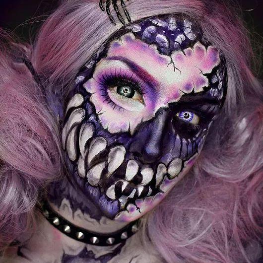79 besten halloween maquillage bilder auf pinterest. Black Bedroom Furniture Sets. Home Design Ideas