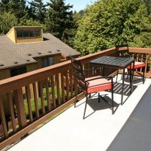 #Relax on the balcony with a beautiful view at the Bluffs at Mountain Park #apartments in #Lake #Oswego, OR.