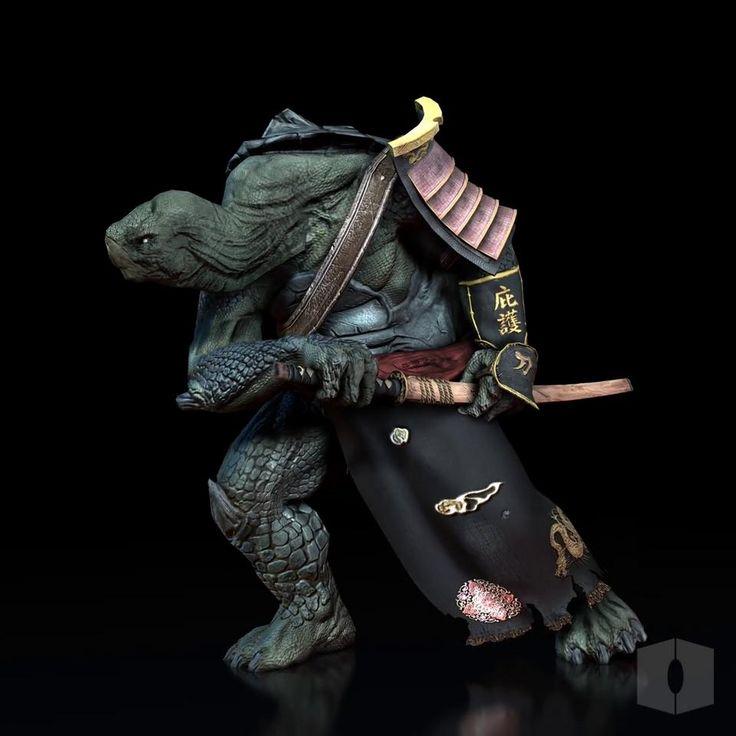 Samurai Turtle walk cycle by pixobox studio on Vimeo
