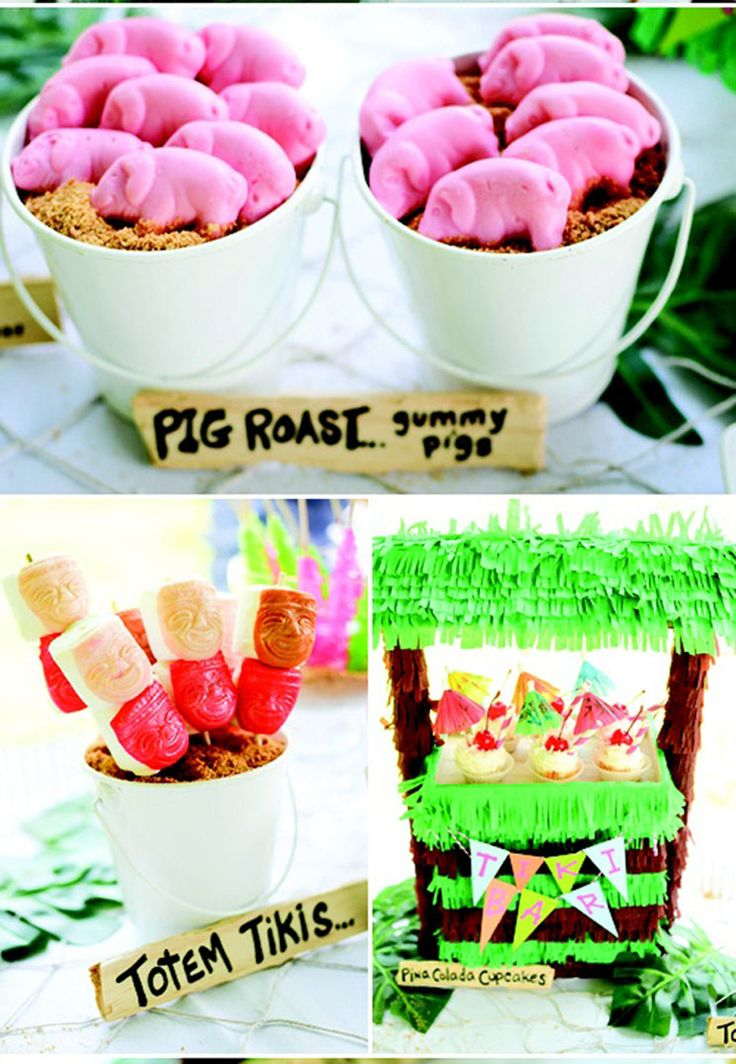 Pig cookies & fruit pops