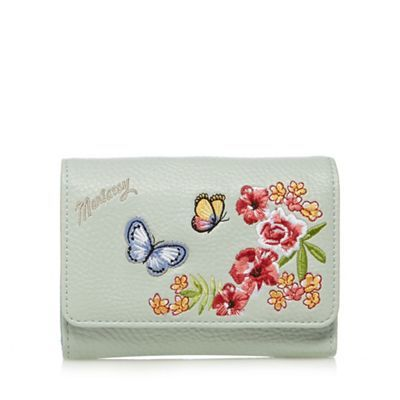 Mantaray Light green butterfly applique purse | Debenhams