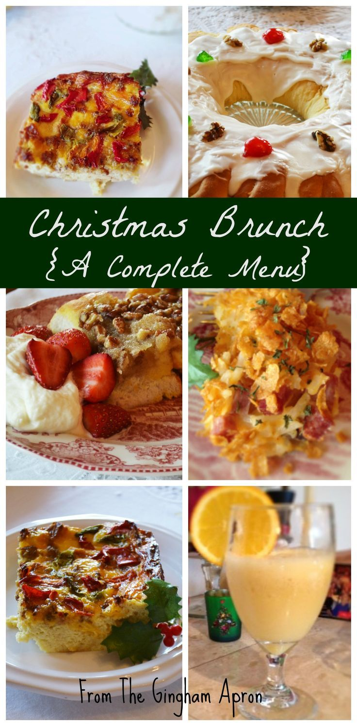 We've made Christmas brunch easy with a complete scrumptious menu.