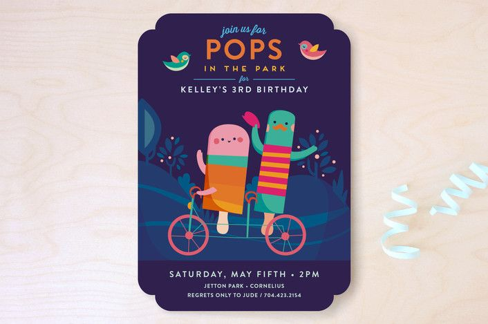 Pops In The Park Children's Birthday Party Invitat... | Minted