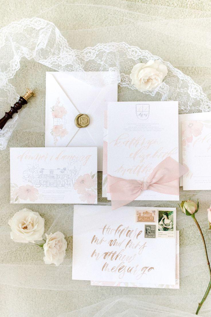 Blush wedding stationery   Photography: Christy Nicole - http://christynicole.com/