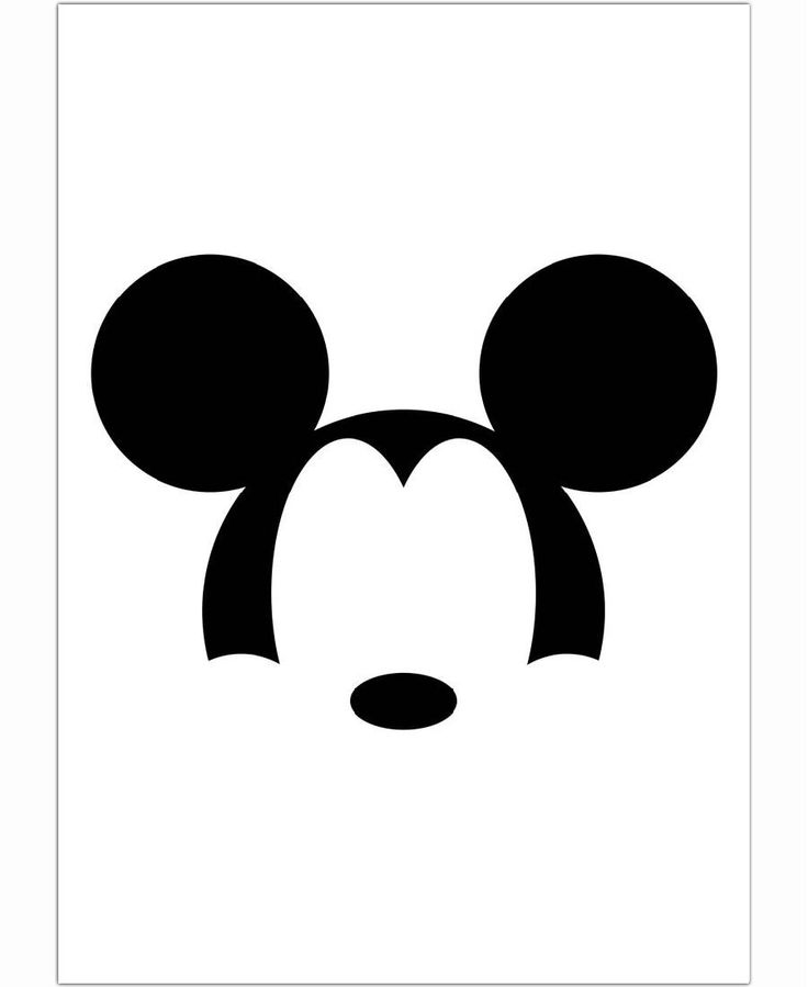 Mickey minimalist black of francisco valle now on juniqe