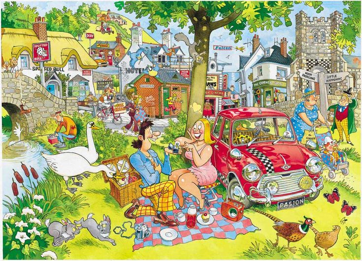 WASGIJ Destiny: Picnic Time - 1000pc Jigsaw Puzzle by Ravensburger