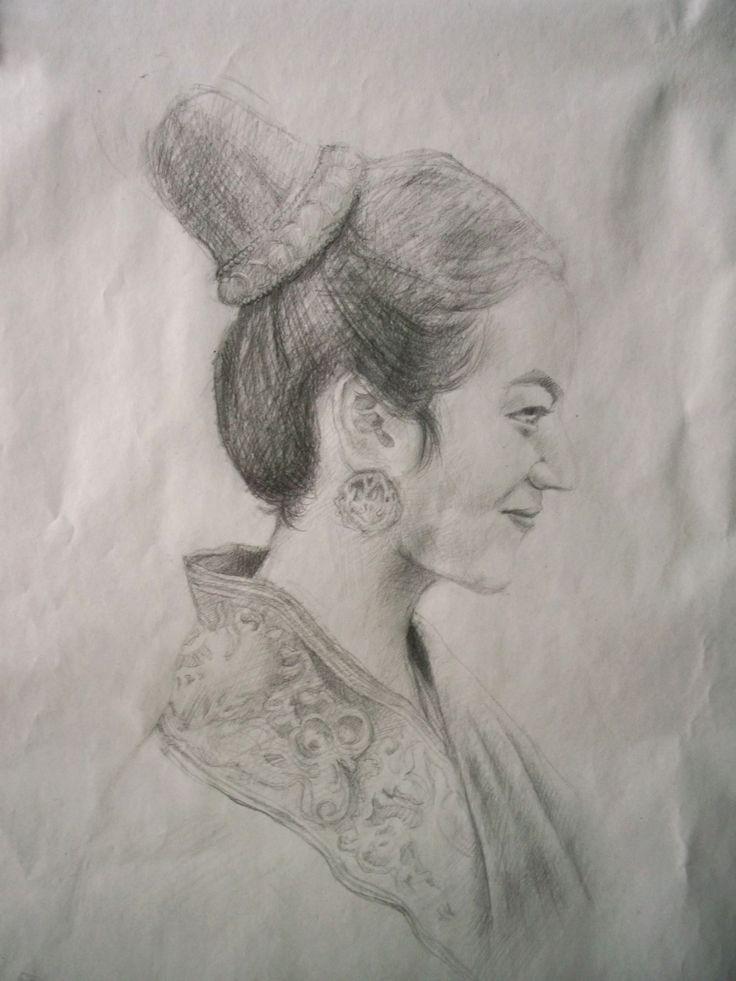Art Quick Sketch Thai Girl  by Sittichai Pijitam (cycnas)