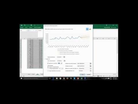 Ejemplos de cálculos de pronósticos de ventas en Excel 2016