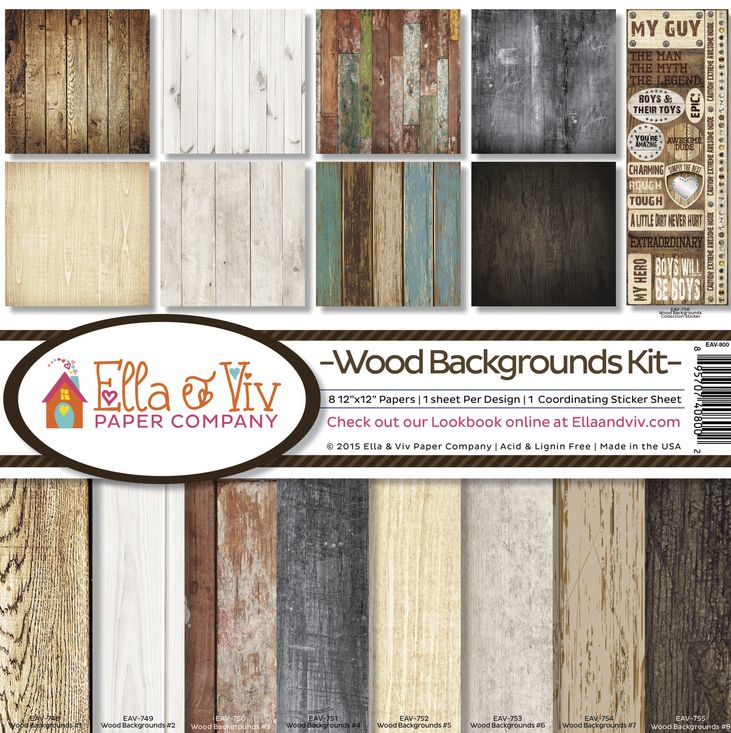 Wood Backgrounds Paper Pack Ella Viv In 2020 Wood Background Scrapbook Kits 12x12 Scrapbook Paper