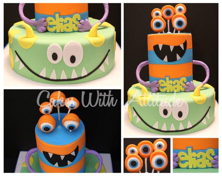 Monster Cake - by CakesWithAttitude @ CakesDecor.com - cake decorating website