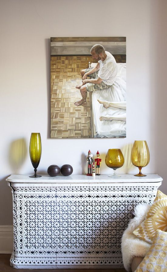 another pretty radiator cover + vignette