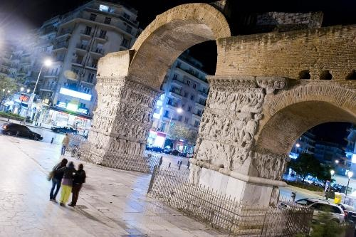 The Arch of Galerius was erected in honor of the co-emperor in A.D. 305. Thessaloniki, Greece.
