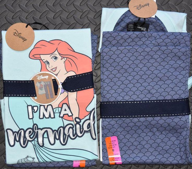 PRIMARK LITTLE MERMAID PJ Disney Ariel Set Womens Ladies Pyjamas UK Sizes 6 - 20